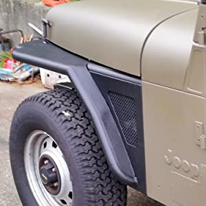 Jeep YJ Front Fender with Mesh