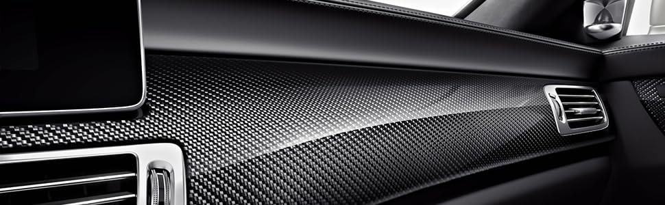 nero Adesivo per pulsante di avvio motore in fibra di carbonio per Mercedes Classe A W177 Classe B W247 GLB X247 CLA AMG NEFELI