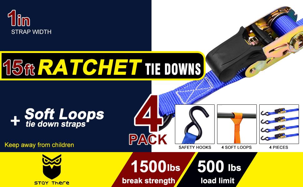 Ratchet tie down straps