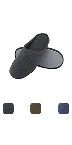 ULTRAIDEAS Men's Comfort Knitted Cotton Slippers