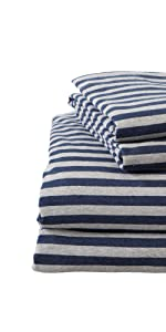 Striped Jersey Knit Sheets