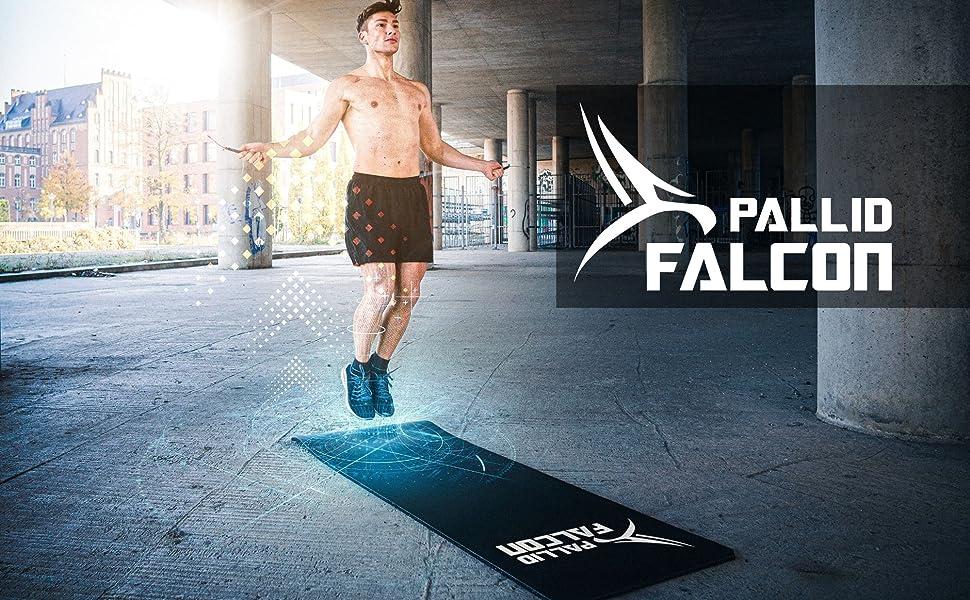 Yoga mat mat touw springen gymnastiek mat sport mat fitness mat zwart pallid falcon