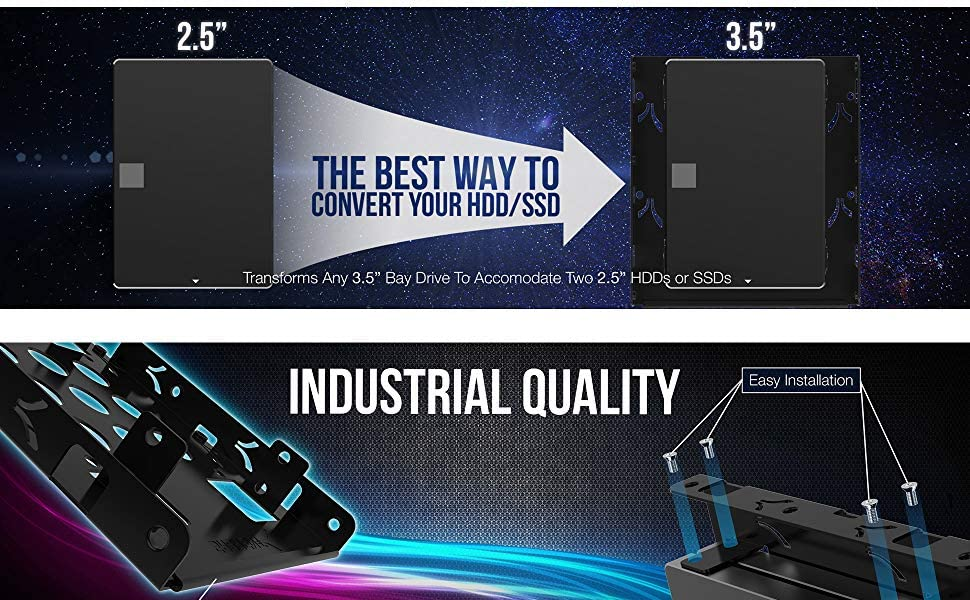 Sabrent Kit de montaje de disco duro interno 3.5 a x2 SSD / 2.5 ...