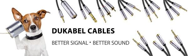 DuKabel 6,35 auf 3,5 Klinke Adapter