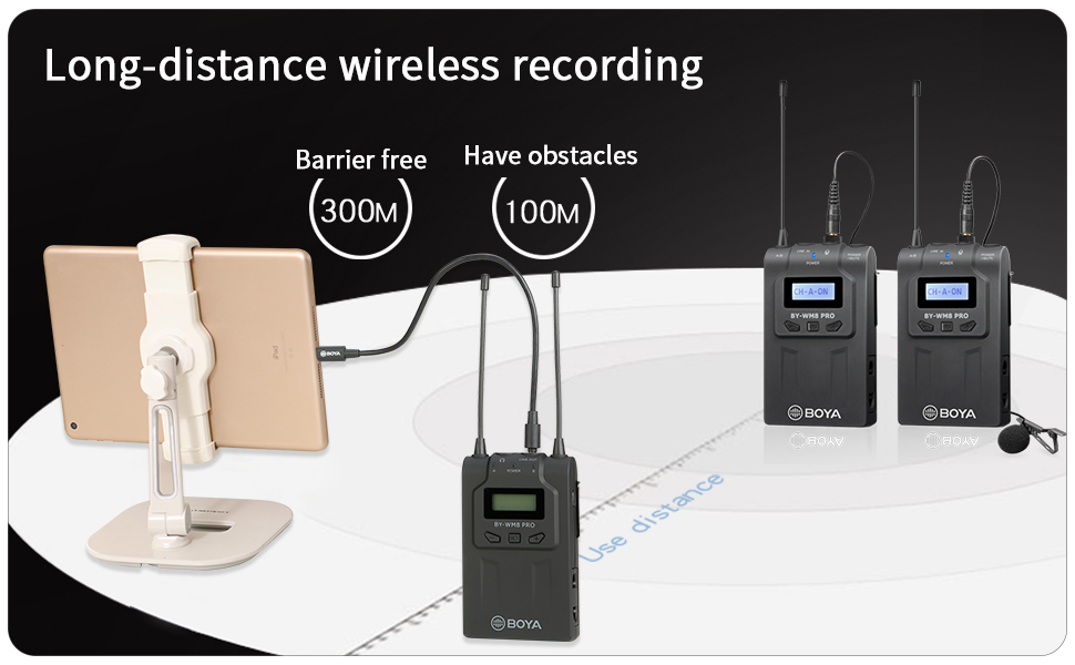 Wireless Lavalier Microphone System for iPhone 11 8 7 6 Camera for DSLR Recorder Samsung Smartphone
