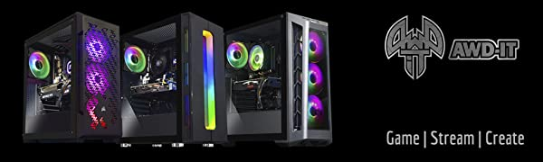 AWD-IT Gaming PC Systems by ADMi