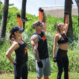 Outdoor exercise resistance bands