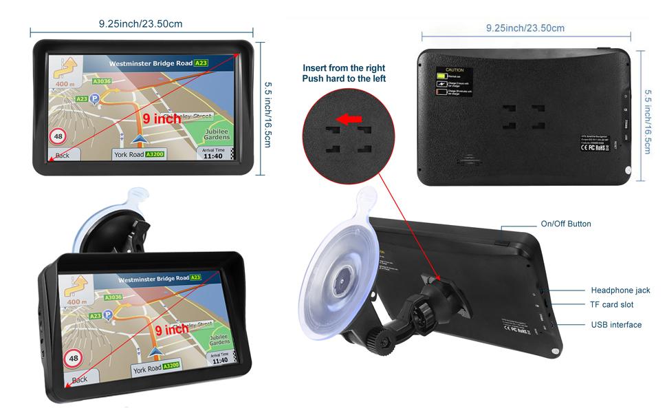 9-inch GPS navigation system