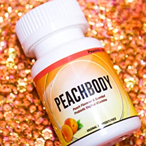 Peachlife Probiotic Vaginal Suppositories Peach scented flavored ovules yeast infection uti candida