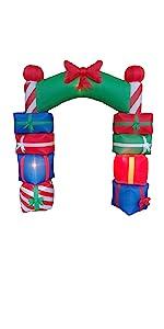 bzb goods christmas reindeer inflatables led lights yard garden outdoor decoration snowman blowup