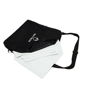 baseball bases in a bag