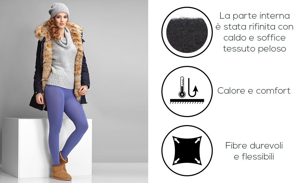 Merry Style Collant Calzamaglia Termici Donna 24555