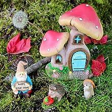 mini fairy garden fairies gnome collectible figurine set