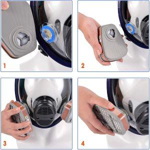 full face respirator combination