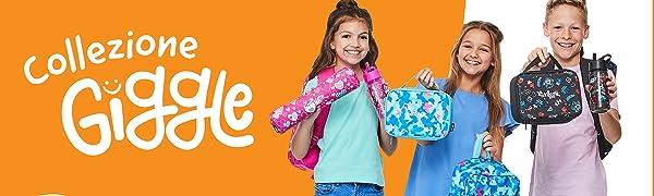Stampa di farfalle Cestino per il pranzo scolastico per ragazzi e ragazze Smiggle Giggle con maniglia per il trasporto ed etichetta per il nome