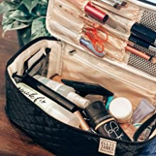estuche para maquillaje, makeup organizer large, cosmetic cases for women, make up caddy