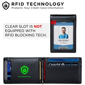 BLOCKS 13.56 MHz or higher RFID signals and protect the valuable information stored on RFID chips
