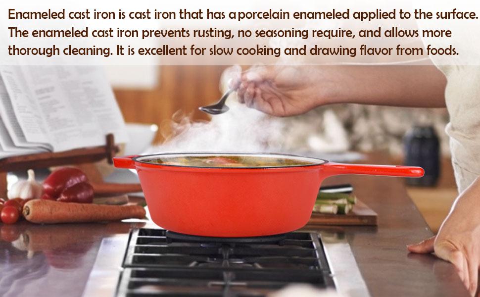 3.2 Quart Enameled Cast Iron