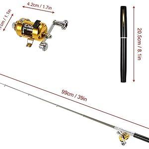 Jatzde Mini Portable Pocket Fish Rod Pen