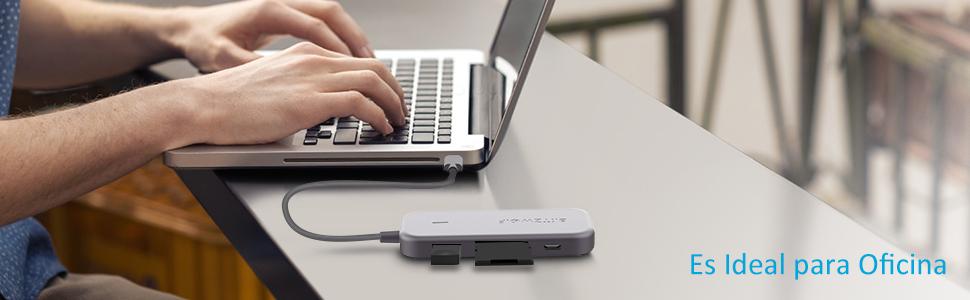 BlitzWolf Hub USB C, 7 en 1 Adaptador Tipo C con HDMI 4K, 3 ...