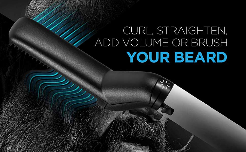 Straightener Comb for Men - Straightening Heat Brush