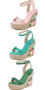 floral Espadrille Sandal Shoes summer sandals