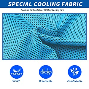 fabric of cooling towels