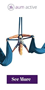 aerial silks acrobatic aerobic dance aerial equipment figure 8 ascender carabiners daisy chain