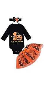 my first halloween baby girl outfit