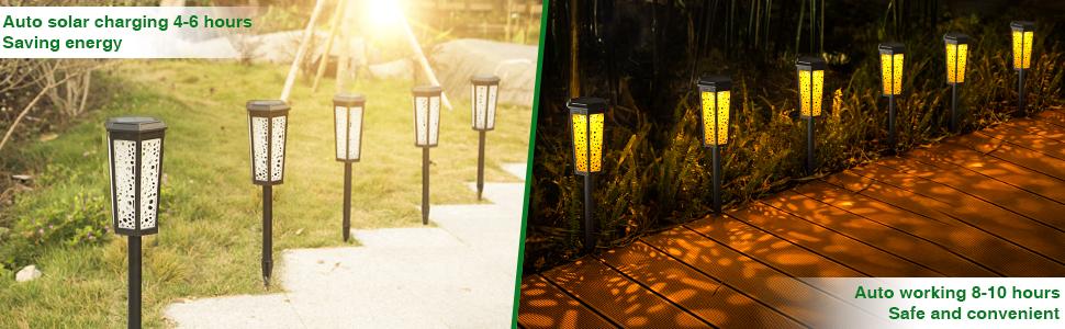 solar power light for pathway
