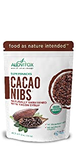 Cacao Nibs sweetened with Yacon Syrup