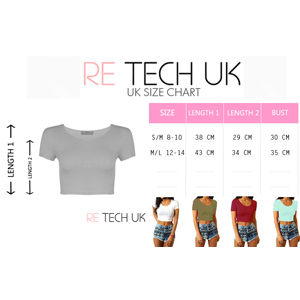 round neck crop top womens summer uk hot sexy crop