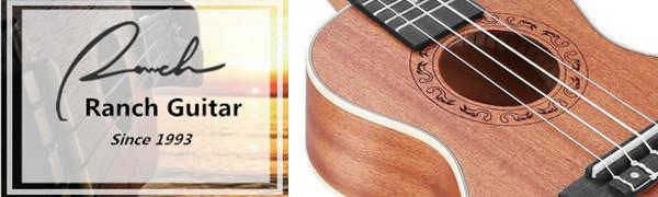 Ranch Left handed Concert Ukulele 23 inch Professional Wooden ukelele Instrument Padded Gig Bag