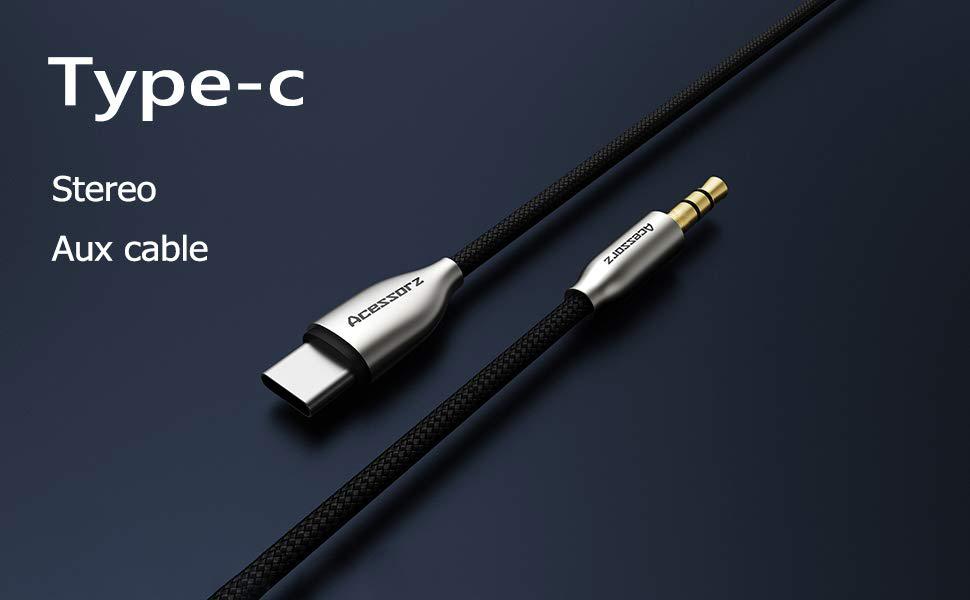 Amarion Adaptador USB C jack AUX TYP-C USBC adaptador de audio accesorio conector jack adaptador compatible para auriculares Huawei Samsung Note OnePlus Tel/éfono m/óvil Headphone Mate Cable AUX