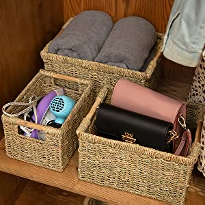 Woven baskets for home decoration