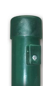 OuM 90 St/ück Pfostenkappe Zaunpfahlkappe rund 38mm Grau
