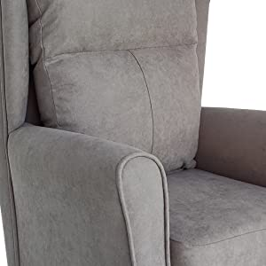 butaca budast diseño moderno en forma de t, tela antimanchas de color gris