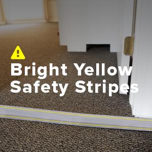 bright yellow stripes