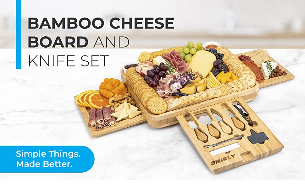 Bamboo Cheese Board and Knife Set