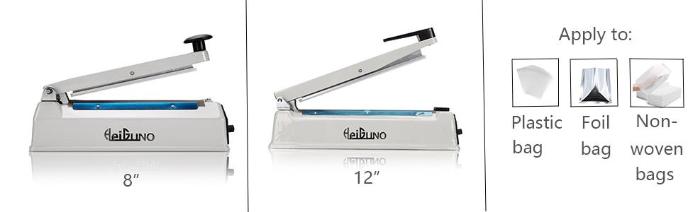 "HeiGuno 8"" and 12"" impulse sealer"