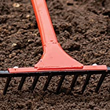 straight rake, rake, garden rake, rock rake, hardscape rake, steel rake, landscape rake, AM Leonard