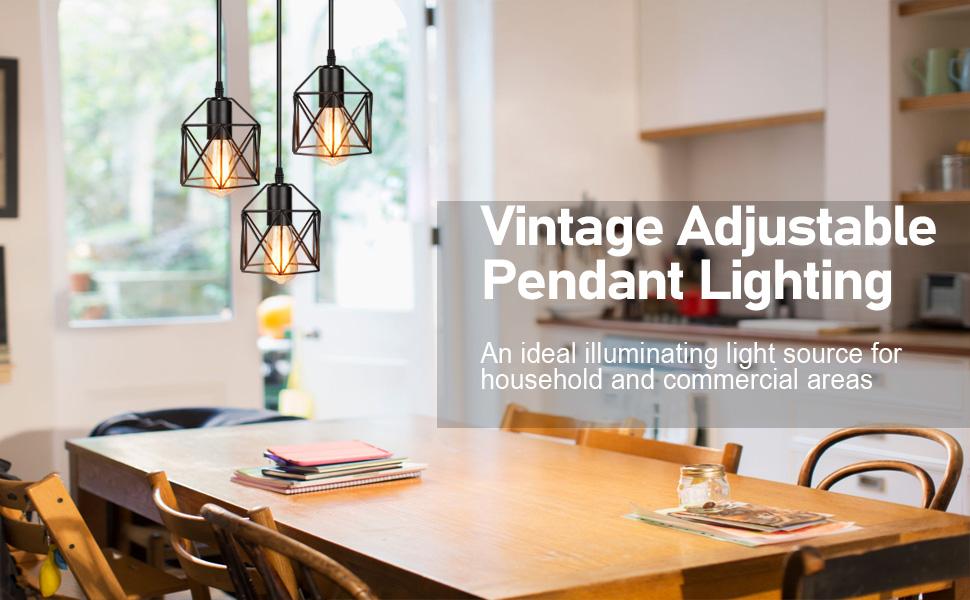 Vintage adjustable Pendant Lighting for household
