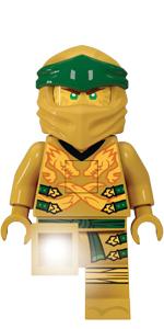 LEGO Ninjago Legacy Gold Lloyd Minifigure Torch Flashlight Ninja
