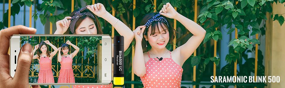 saramonic blink500 wireless lavalier microphone
