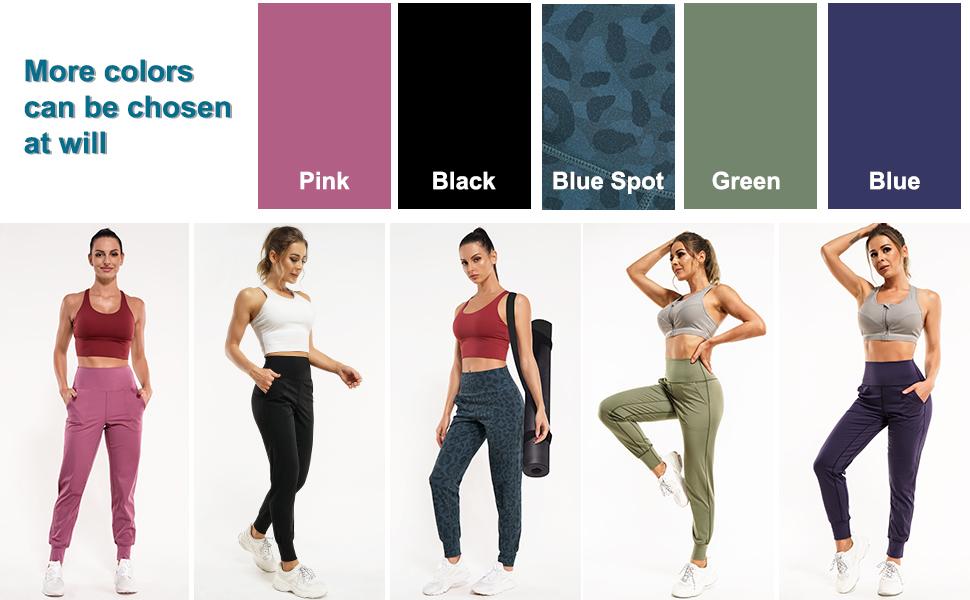 Women's Joggers Sweatpants High Waist Activewear Jogger Pants Casual Lounge Pants Yoga Leggings