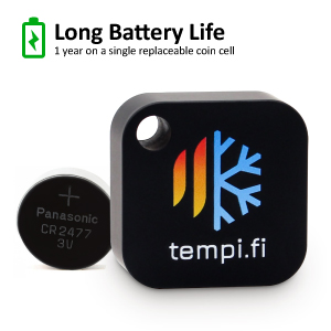 long battery life replaceable coin cell