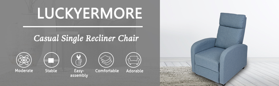 casual single recliner chair