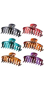 6 Colors Large Tortoise Claw Hair Clips