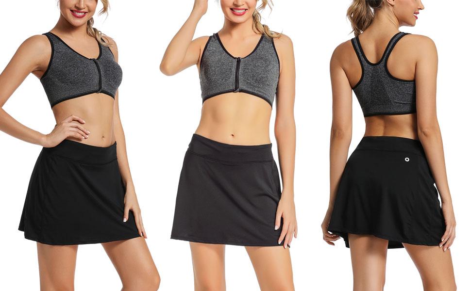 Women's Athletic Skorts Lightweight Active Skirts with Shorts Pockets Running Tennis Golf Workout