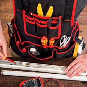 NoCry Heavy Duty Work Apron - 26 Tool Pockets fits everything